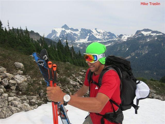 August ski turns.