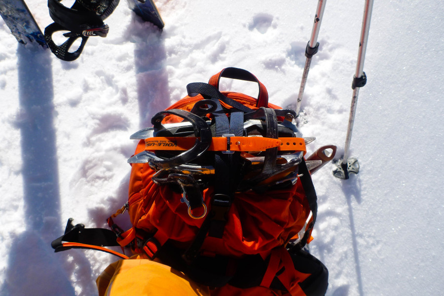 How to store your crampons on this pack
