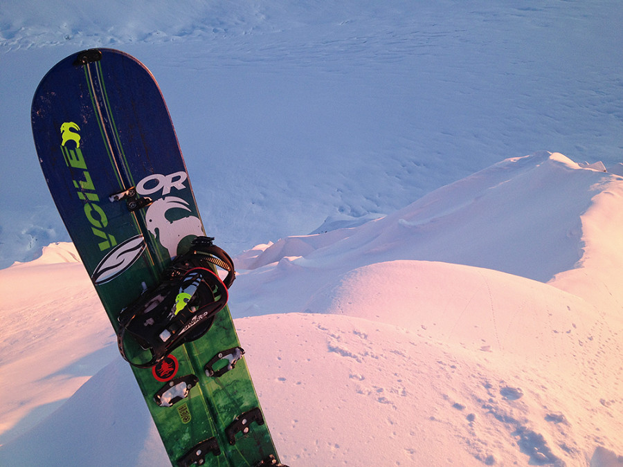 Revelator splitboard in Alaska