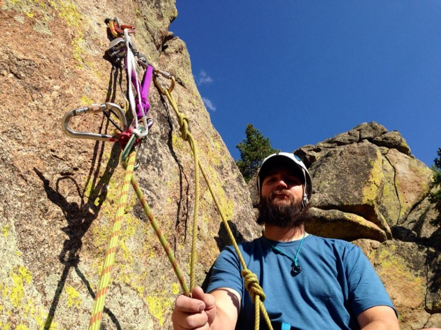 Love to belay from the top in guide-mode