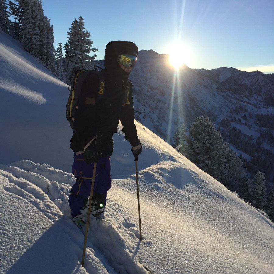 Dawn patrol in the Wasatch