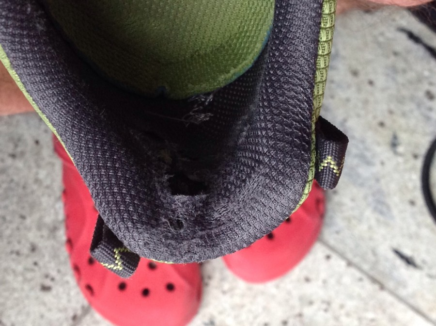 Worn out heel cup