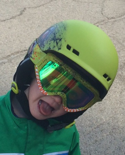 Awesome kids helmet
