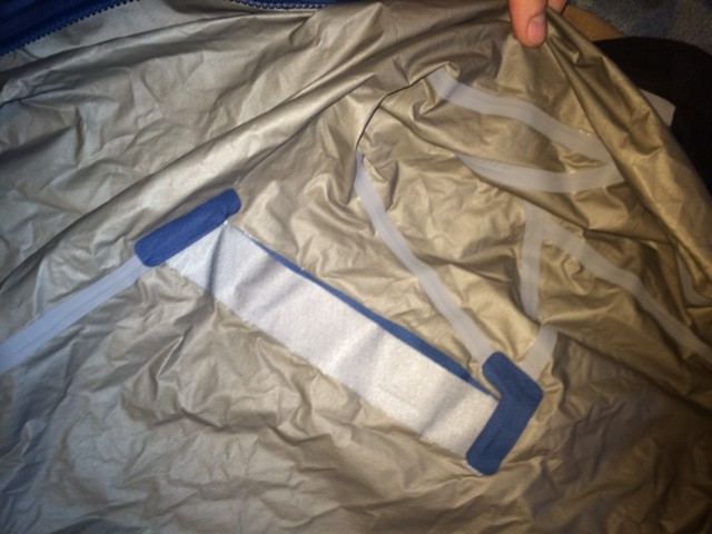 Inside seam seals and back vent