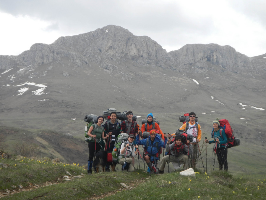 School Group backpacking trip