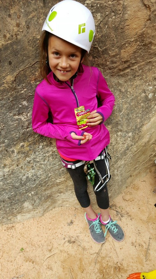 8year old outdoor enthusiast powering up