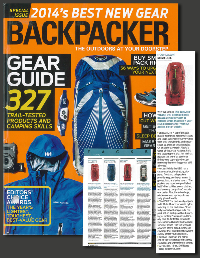 UBIC review from Backpacker Mag