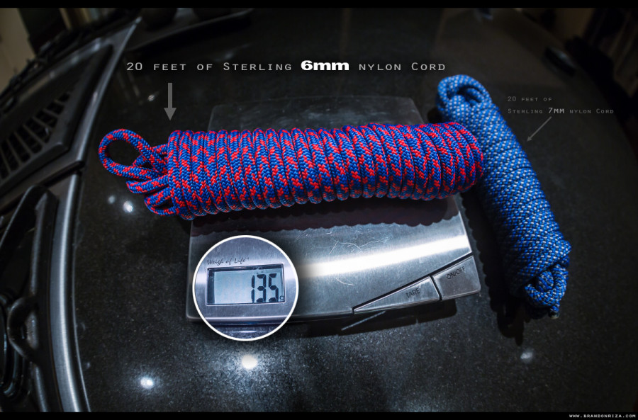 20 Feet of 6mm of Sterling Cord...