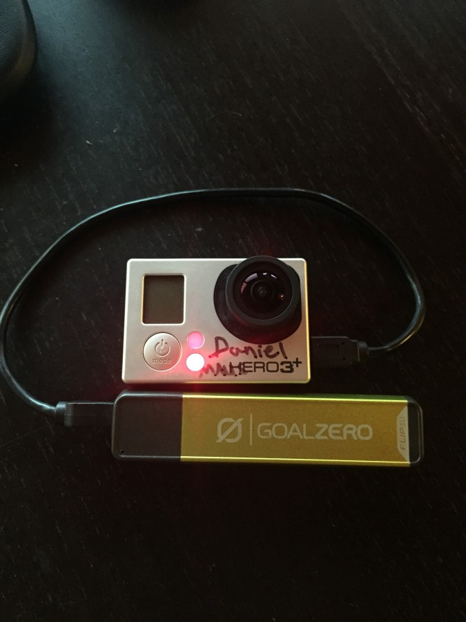 Charging a GoPro