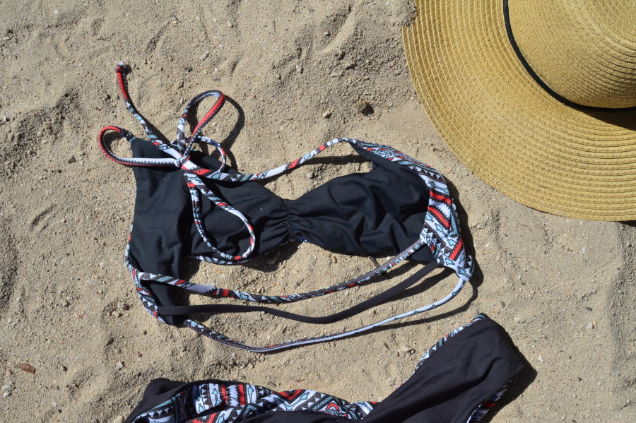 L space Serafina Strap back bikini top