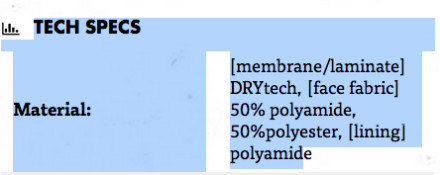 The Tech Specs on this page list it as membrane \laminate.
