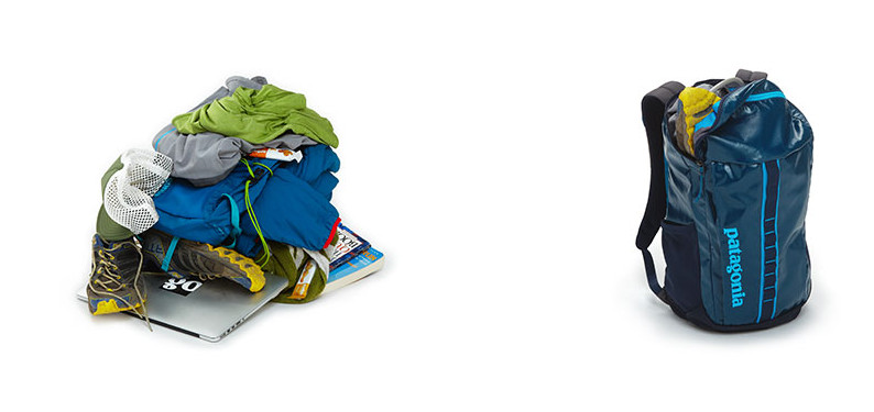 what fits in a Black Hole 25L pack?