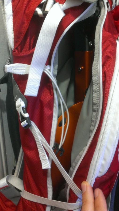 Inside an Osprey Karve 16