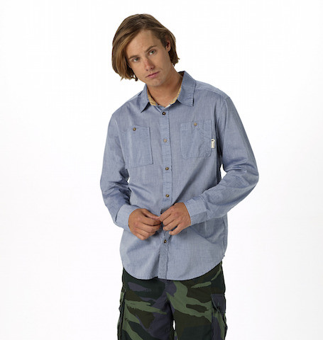 Burton Glade Shirt in Light Chambray