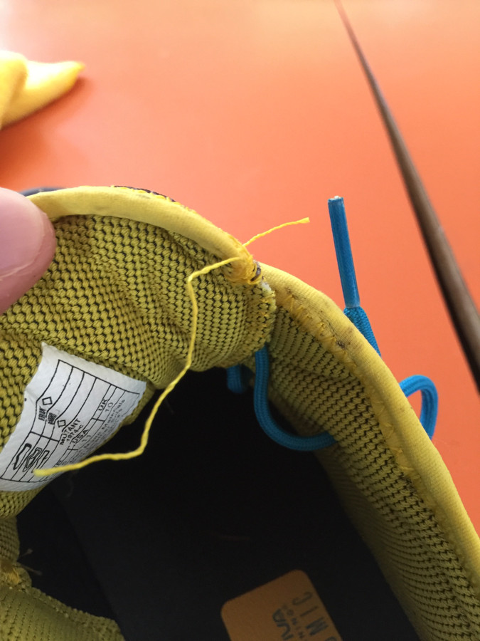 Stitching in both shoes pulling out