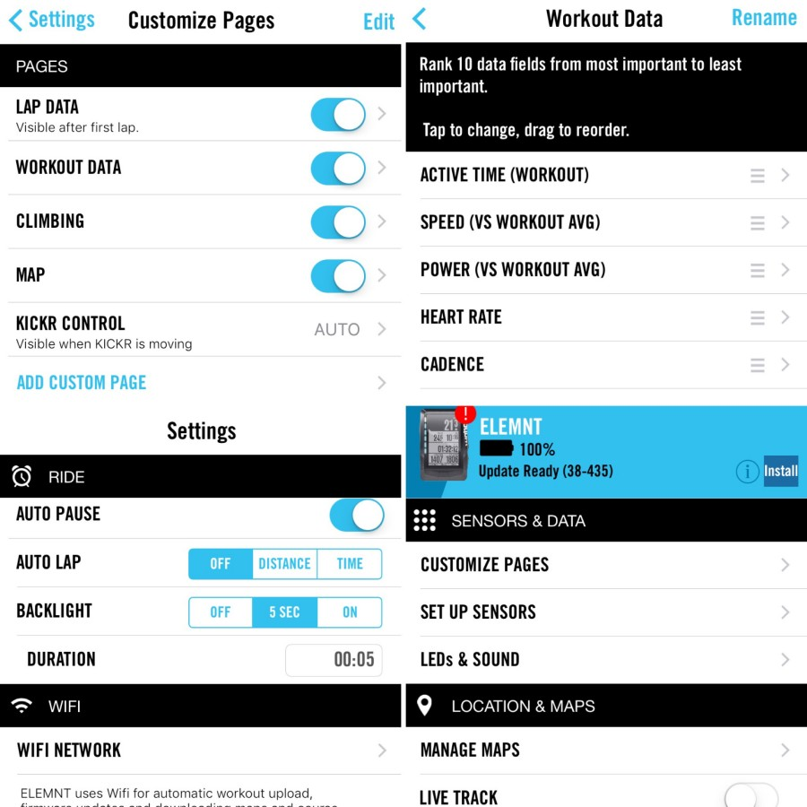 Elemnt App Page Examples