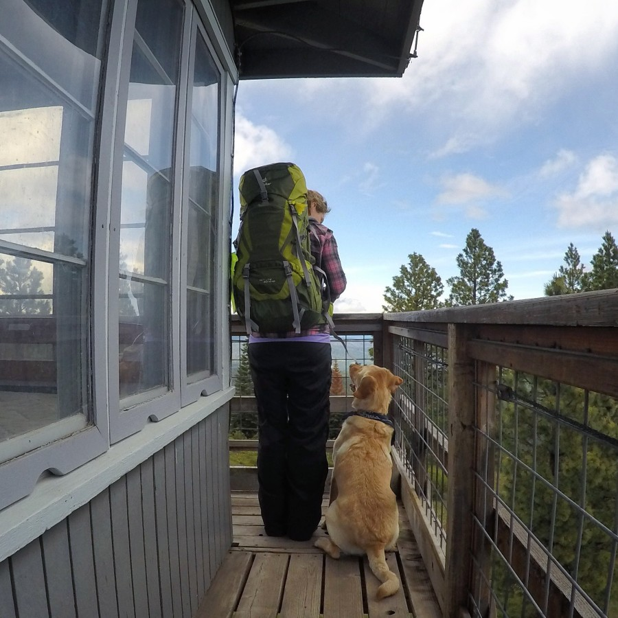 Fire lookout backpacking with my BFF!