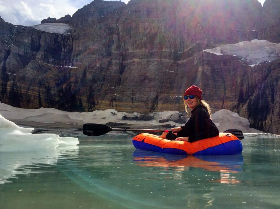 Glacial lagoon in Montana