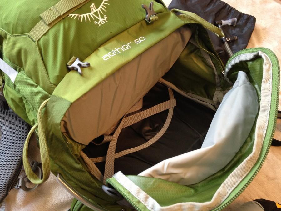 Sleeping bag compartment empty