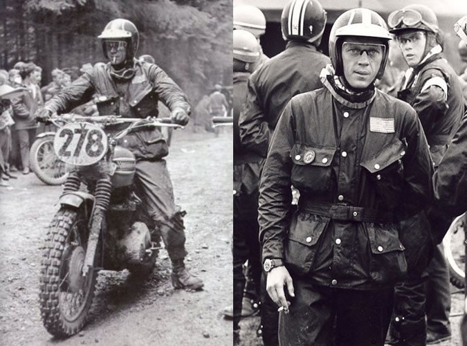 Steve McQueen racing in the Barbour Intl