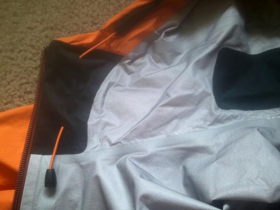 adjustable hood and soft chin gaurd