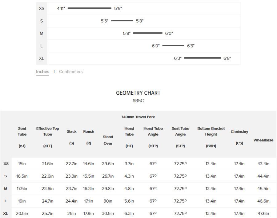 size chart <br/> size chart