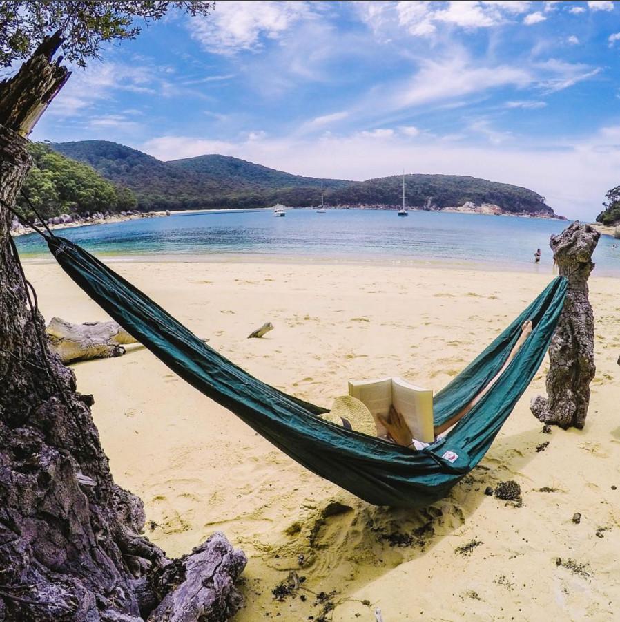 Hammock Bliss Single Green On The Beach