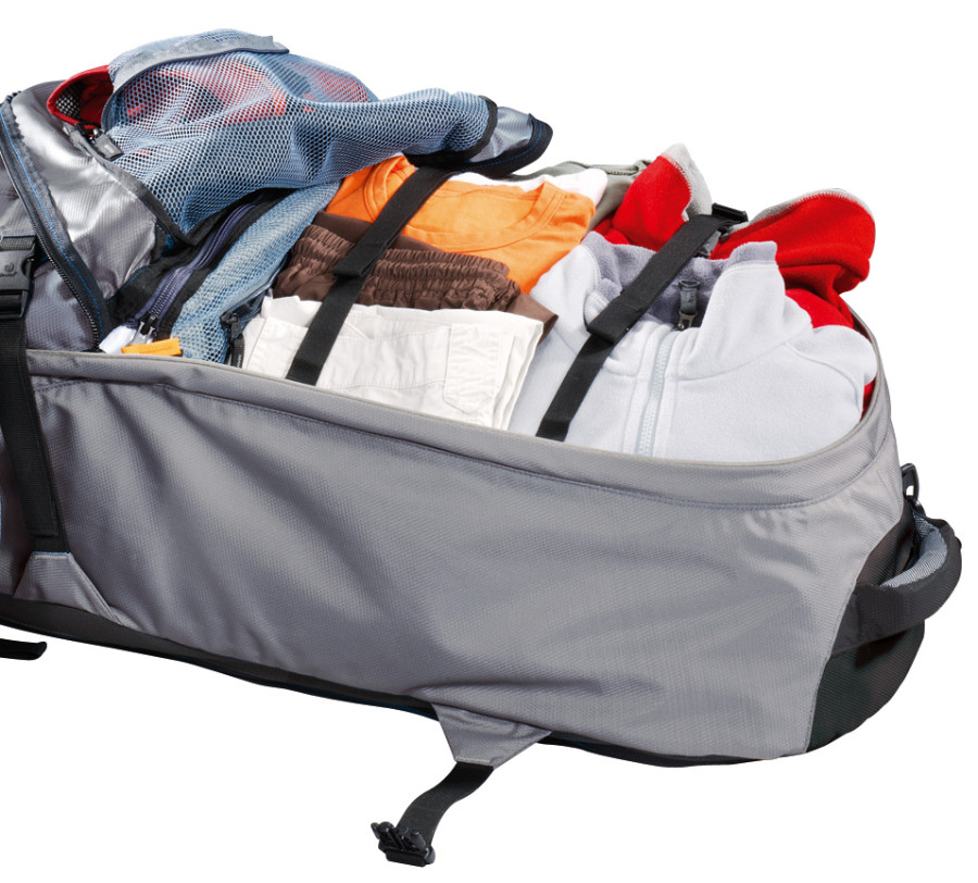 Luggage stabilizer w 4 mesh pockets