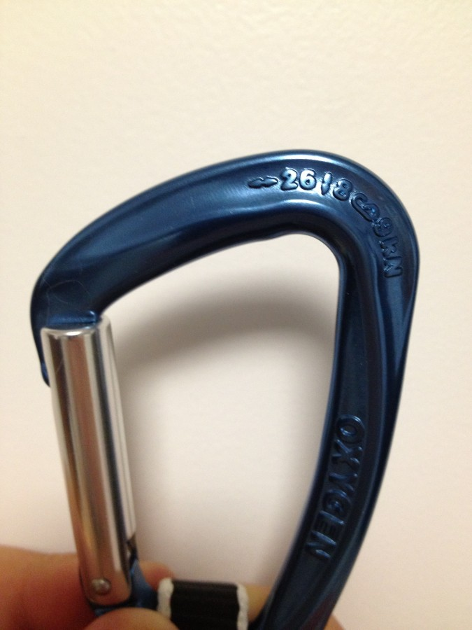 Strength of Oxygen Carabiner