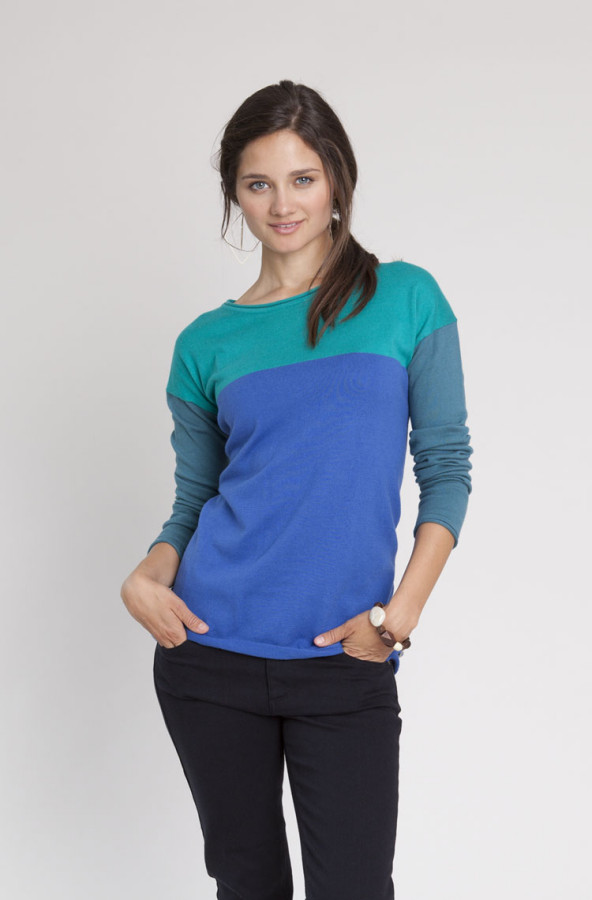 Cotton Cashmere Casual Sweater.