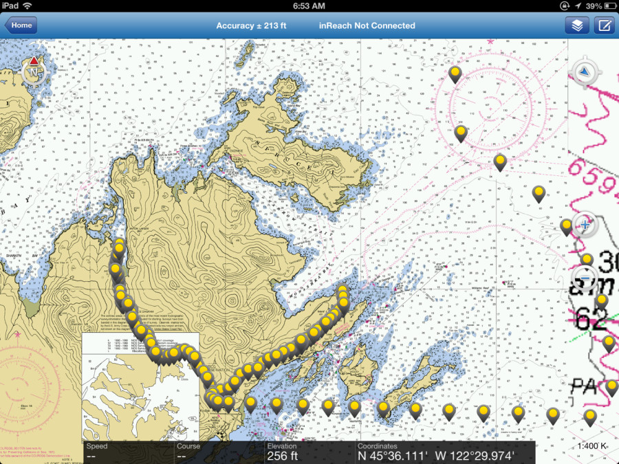 "NOAA Nautical Charts in ""Earthmate"" App"