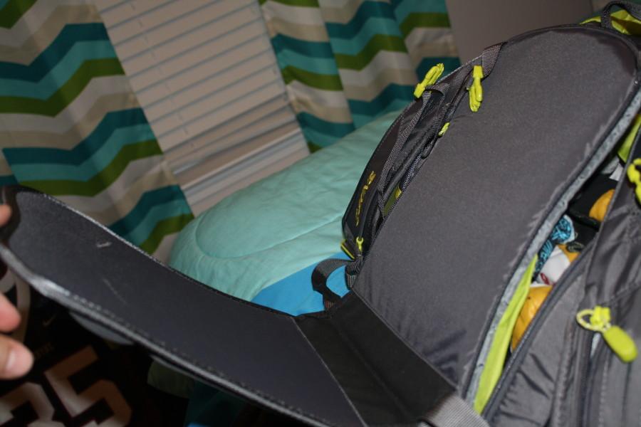 My Dakine Blade pad side view