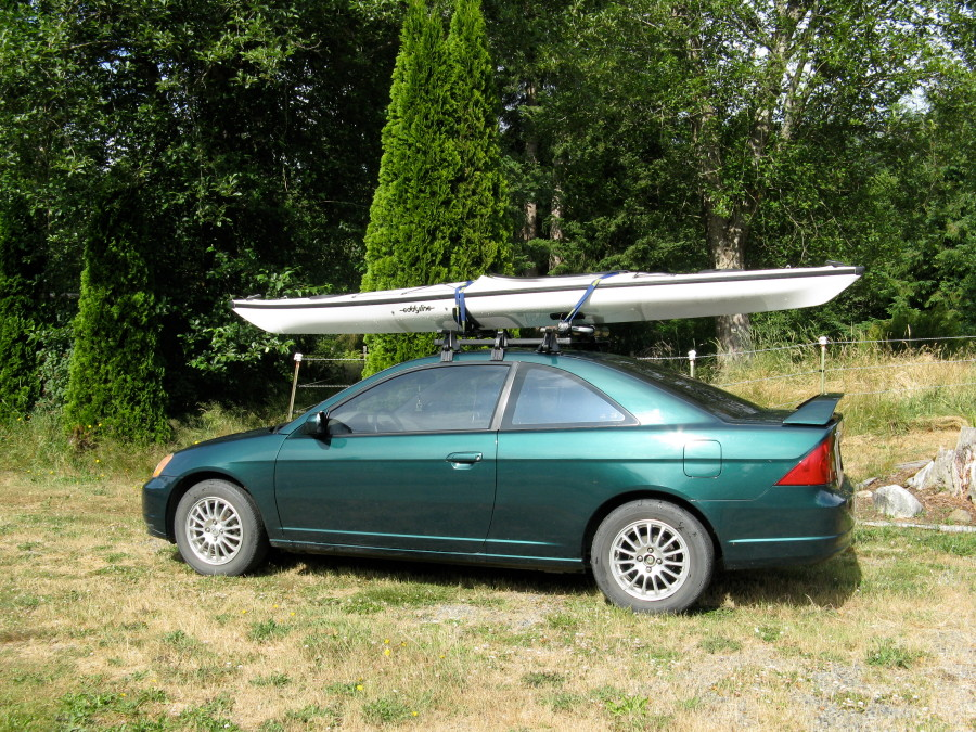 Kayak on Honda Civic 2dr!