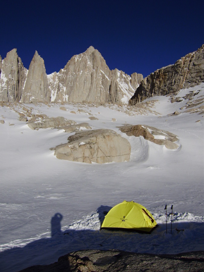 High Camp on Mt Whitney