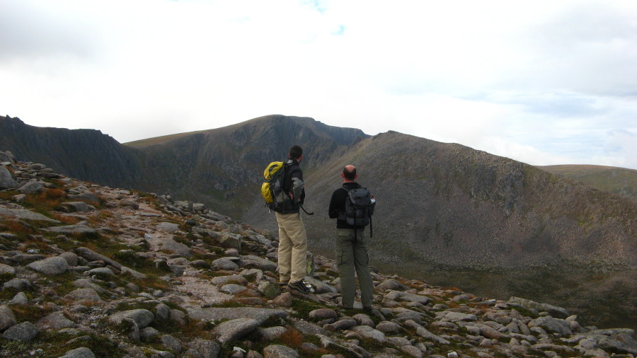 Overlooking a Coire near Cairngorm, Scotland