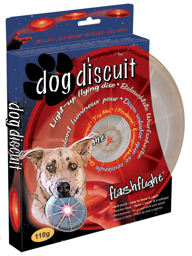Flashflight Dog Discuit - Red