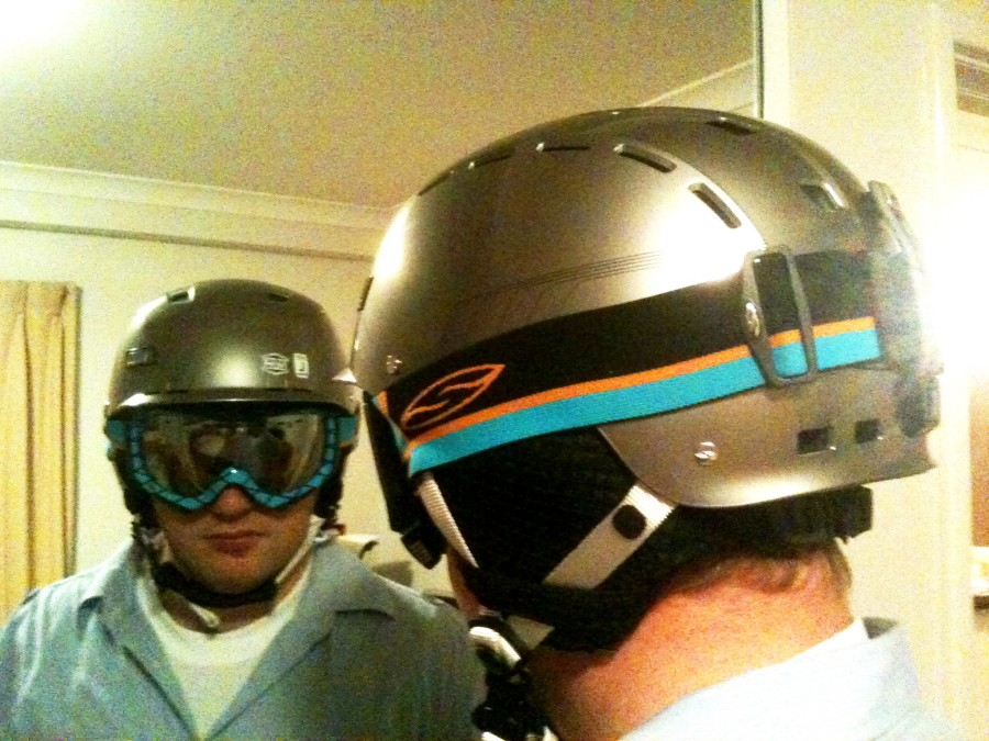 Smith Hustle (Silver Max) Helmet & Smith Prodigy (Blaze Intersection with Platinum Mirror Lens) Goggles