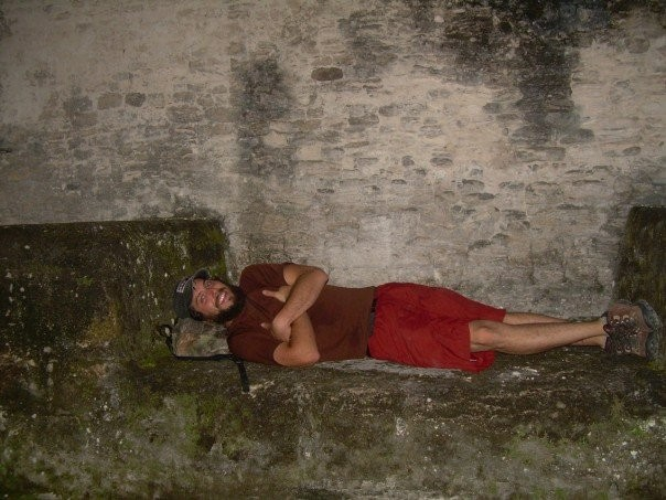 laying around in Tikal Guatemala