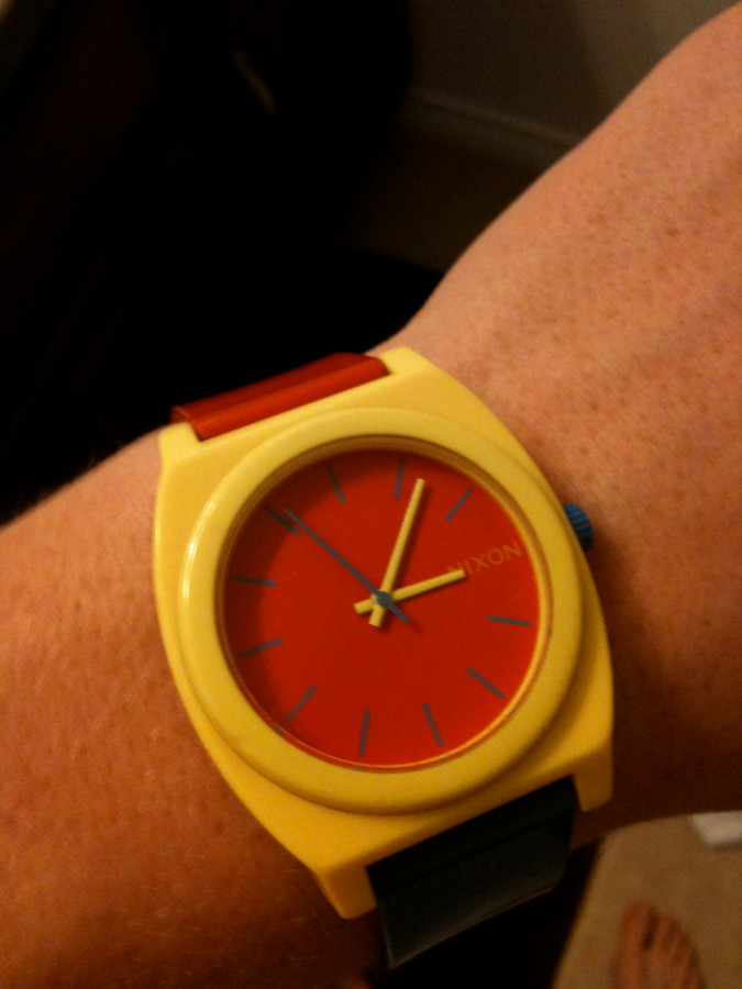 time teller p red-blue-yellow