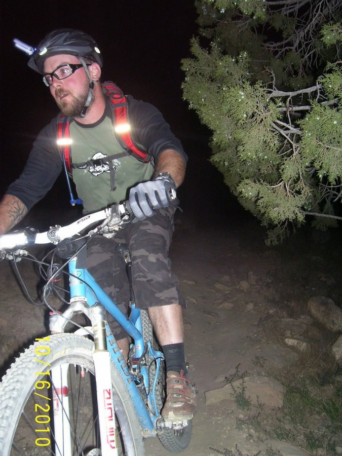 zymes killing it on an impromptu night ride