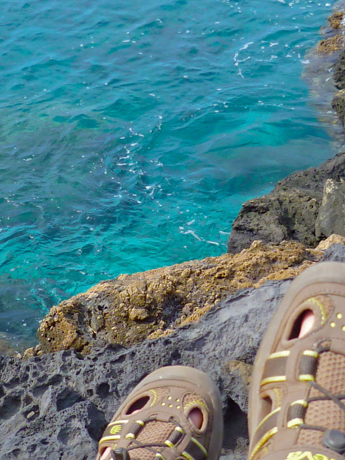 Tevas on the lava
