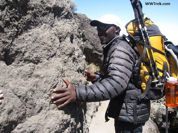 Kuhl Down Jacket worn by Guide on Mt. Kilimanjaro