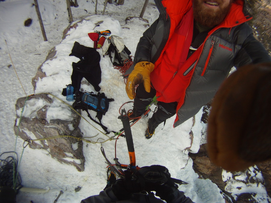 Climbing Ouray in the Duke