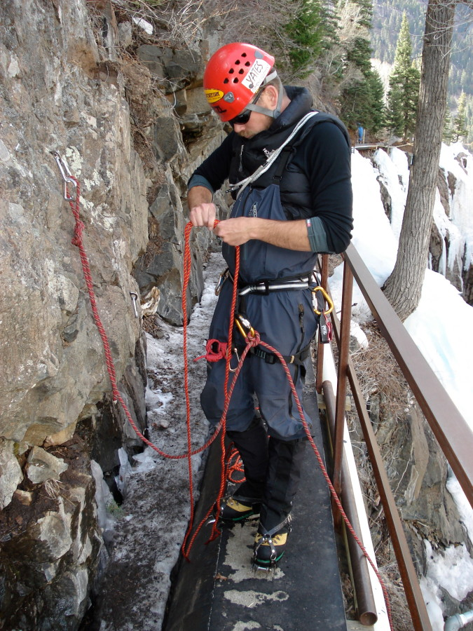 Rigging a TR in Ouray, CO