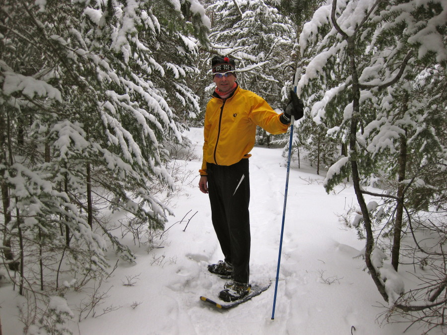 Snowshoeing trip to Munising Michigan