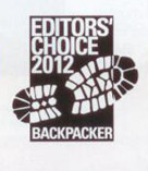 Backpacker Editors Choice Award 2012