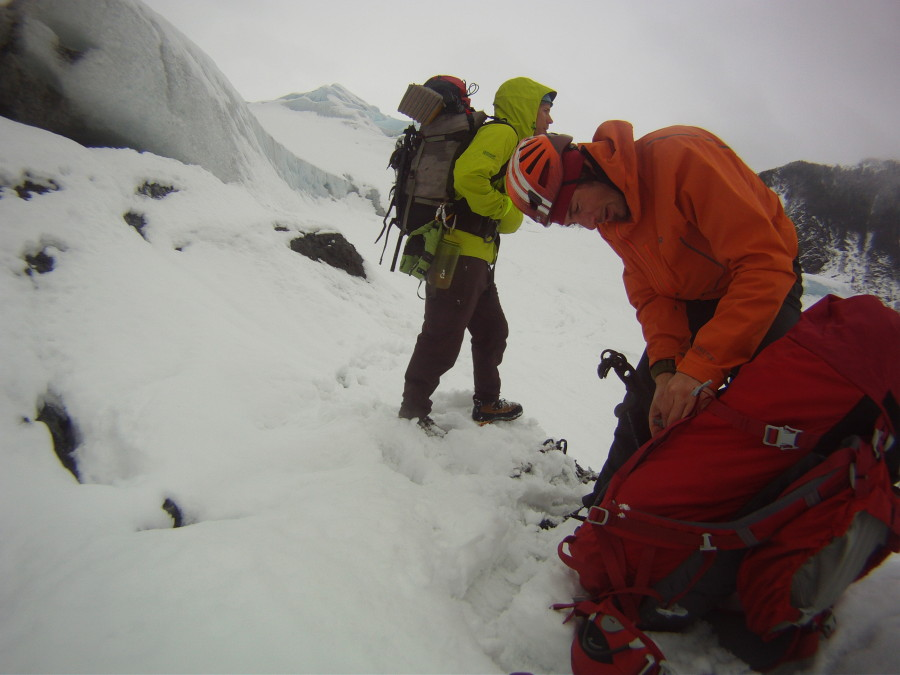 Jason Nelson and Tim Banfield on the Mendenhall Glacier, Juneau, AK