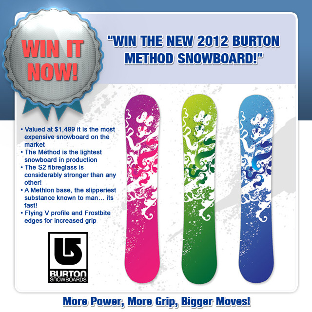 Burton Method Snowboard - the Lightest Board on the Market