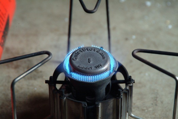 MSR Dragonfly running with a QuietStove.com Model 107
