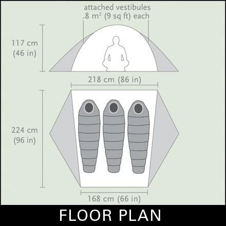 floor plan  sc 1 st  Backcountry.com & Black Diamond Vista Tent: 3-Person 3-Season | Backcountry.com